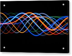 Moving Lights, Abstract Image Acrylic Print by Lawrence Lawry