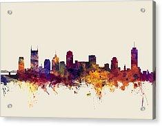 Nashville Tennessee Skyline Acrylic Print by Michael Tompsett