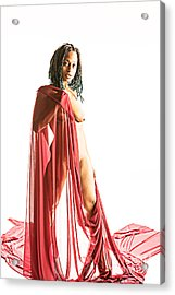 Neemah African American Nude Girl Photograph In Sexy Sensual Col Acrylic Print by Kendree Miller