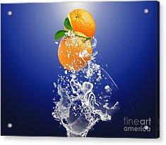 Orange Splash Acrylic Print by Marvin Blaine