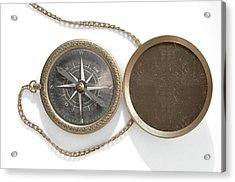 Ornate Pocket Compass Acrylic Print