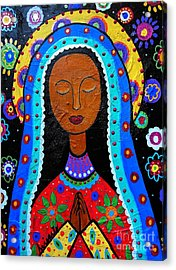 Our Lady Of Guadalupe Acrylic Print by Pristine Cartera Turkus