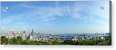 Panoramic View Of Kaohsiung City Acrylic Print by Yali Shi