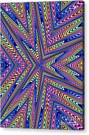6 Point Abstract Acrylic Print