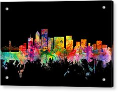 Portland Oregon Skyline Acrylic Print