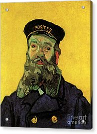 Portrait Of The Postman Joseph Roulin Acrylic Print by Vincent Van Gogh