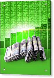 Positive Market Money Acrylic Print