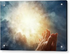 Prayer Acrylic Print by Les Cunliffe