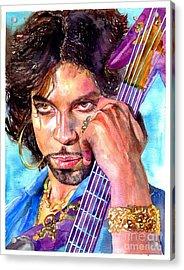 Prince Rogers Nelson Portrait Acrylic Print