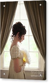 Regency Woman At The Window Acrylic Print