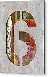 Number 6 Acrylic Print