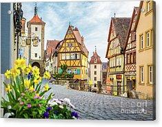 Rothenburg Ob Der Tauber Acrylic Print by JR Photography