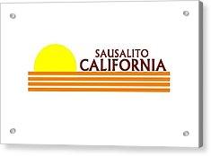 Sausalito California Acrylic Print