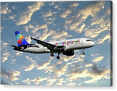 Small Planet Airlines Airbus A320-214 Acrylic Print