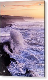 Sunset In The Portuguese Coast Acrylic Print by Andre Goncalves