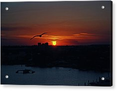 Acrylic Print featuring the photograph 6- Sunset by Joseph Keane