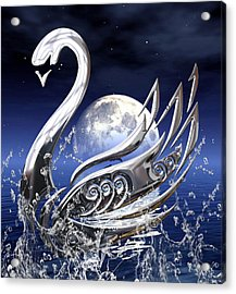 Swan Art Acrylic Print by Marvin Blaine