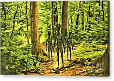 The Aliens Are Here Acrylic Print