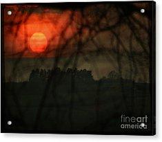 The Sunset Acrylic Print by Angel Ciesniarska