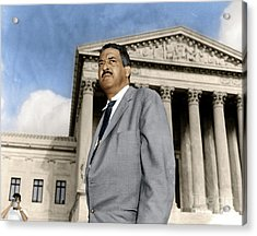 Acrylic Print featuring the photograph Thurgood Marshall by Granger