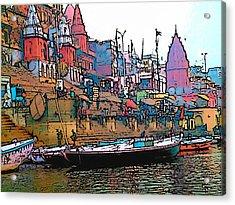 Varanasi Acrylic Print by Lisa Dunn