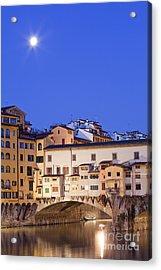 Vecchio Bridge Acrylic Print by Andre Goncalves