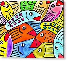 Whimsical Colorful Fish Acrylic Print by Scott D Van Osdol