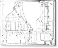 600 Ton Coaling Tower Plans Acrylic Print
