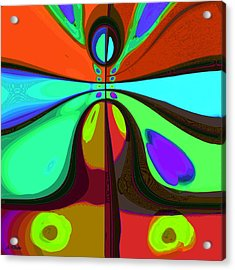 60s Free Love Acrylic Print