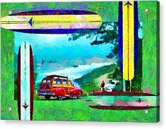 60's Surfing Acrylic Print