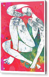 Nude Pop Stylised Art Poster Acrylic Print
