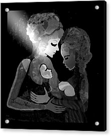 Acrylic Print featuring the digital art 826 - The Child by Irmgard Schoendorf Welch