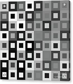 64 Shades Of Grey - 1 - Has Small White Acrylic Print by Ron Brown