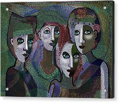 Acrylic Print featuring the digital art 649 - Gauntly Ladies by Irmgard Schoendorf Welch