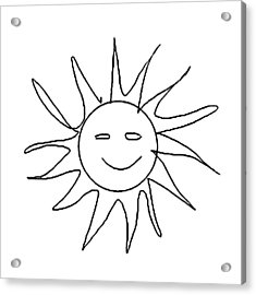 6.57.hungary-6-detail-sun-with-smile Acrylic Print