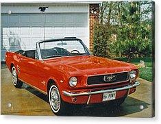 66 Mustang Convertable Acrylic Print