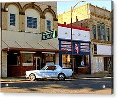 66 Mustang Down Town Acrylic Print by Danny Jones
