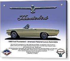 '66 Thunderbird Convertible Acrylic Print by Douglas Pittman