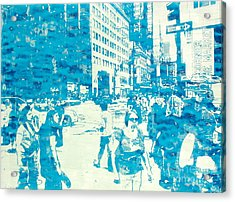 665 Fifth Avenue New York City Acrylic Print by Jonathan Deutsch