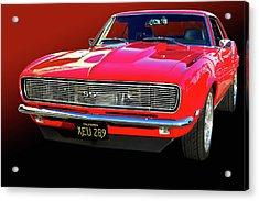68 Ss Camaro Acrylic Print by Bill Dutting