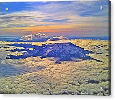 #69 Mt Rainier Sunrise Acrylic Print