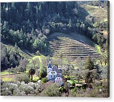 6b6312 Falcon Crest Winery Grounds Acrylic Print