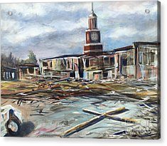 Acrylic Print featuring the painting Union University Jackson Tennessee 7 02 P M by Randol Burns