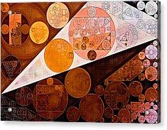 Abstract Painting - Dark Sienna Acrylic Print