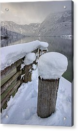 Acrylic Print featuring the photograph Alpine Winter Reflections by Ian Middleton