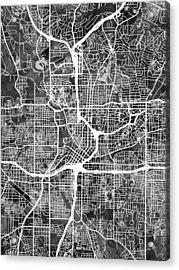 Atlanta Georgia City Map Acrylic Print by Michael Tompsett