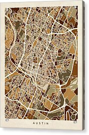 Austin Texas City Map Acrylic Print