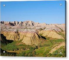 Badlands National Park South Dakota Acrylic Print by Louise Heusinkveld