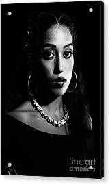 Beauty Portrait Acrylic Print by Amanda Elwell