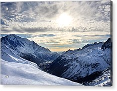 Chamonix Resort In The French Alps Acrylic Print